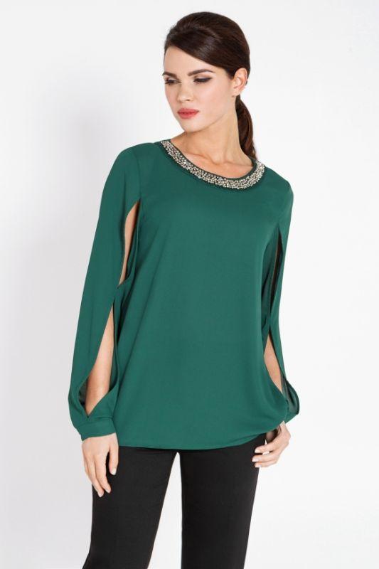 Темно Зеленая Блузка С Доставкой